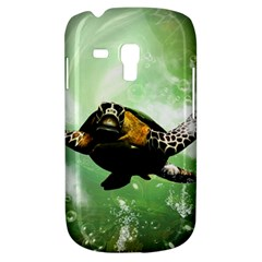 Beautiful Seaturtle With Bubbles Samsung Galaxy S3 MINI I8190 Hardshell Case
