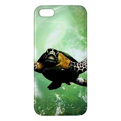 Beautiful Seaturtle With Bubbles Apple iPhone 5 Premium Hardshell Case