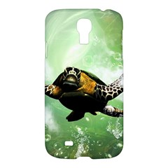 Beautiful Seaturtle With Bubbles Samsung Galaxy S4 I9500/I9505 Hardshell Case
