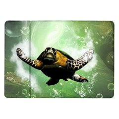 Beautiful Seaturtle With Bubbles Samsung Galaxy Tab 10.1  P7500 Flip Case