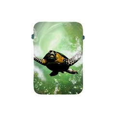 Beautiful Seaturtle With Bubbles Apple iPad Mini Protective Soft Cases