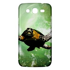 Beautiful Seaturtle With Bubbles Samsung Galaxy Mega 5.8 I9152 Hardshell Case