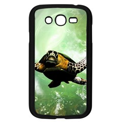 Beautiful Seaturtle With Bubbles Samsung Galaxy Grand DUOS I9082 Case (Black)