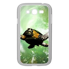 Beautiful Seaturtle With Bubbles Samsung Galaxy Grand DUOS I9082 Case (White)