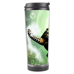 Beautiful Seaturtle With Bubbles Travel Tumblers