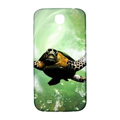 Beautiful Seaturtle With Bubbles Samsung Galaxy S4 I9500/I9505  Hardshell Back Case