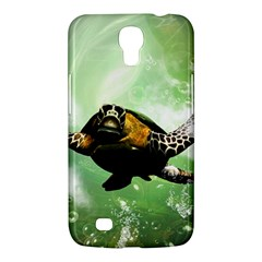 Beautiful Seaturtle With Bubbles Samsung Galaxy Mega 6.3  I9200 Hardshell Case