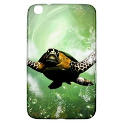 Beautiful Seaturtle With Bubbles Samsung Galaxy Tab 3 (8 ) T3100 Hardshell Case