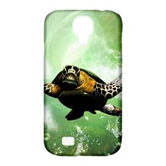 Beautiful Seaturtle With Bubbles Samsung Galaxy S4 Classic Hardshell Case (PC+Silicone)