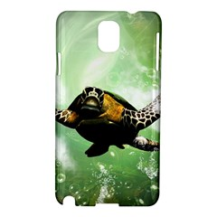 Beautiful Seaturtle With Bubbles Samsung Galaxy Note 3 N9005 Hardshell Case