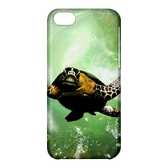 Beautiful Seaturtle With Bubbles Apple iPhone 5C Hardshell Case