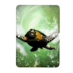 Beautiful Seaturtle With Bubbles Samsung Galaxy Tab 2 (10.1 ) P5100 Hardshell Case
