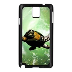Beautiful Seaturtle With Bubbles Samsung Galaxy Note 3 N9005 Case (Black)