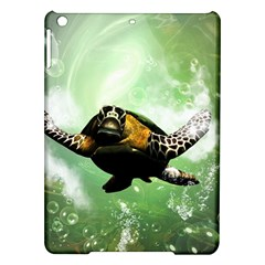 Beautiful Seaturtle With Bubbles iPad Air Hardshell Cases