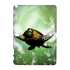 Beautiful Seaturtle With Bubbles Samsung Galaxy Note 10.1 (P600) Hardshell Case