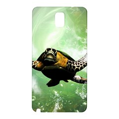 Beautiful Seaturtle With Bubbles Samsung Galaxy Note 3 N9005 Hardshell Back Case