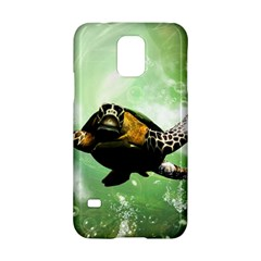 Beautiful Seaturtle With Bubbles Samsung Galaxy S5 Hardshell Case
