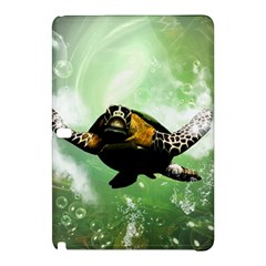 Beautiful Seaturtle With Bubbles Samsung Galaxy Tab Pro 10.1 Hardshell Case