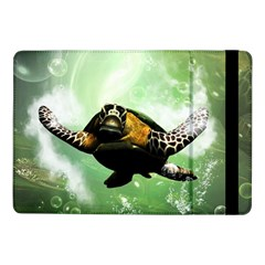 Beautiful Seaturtle With Bubbles Samsung Galaxy Tab Pro 10.1  Flip Case
