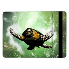 Beautiful Seaturtle With Bubbles Samsung Galaxy Tab Pro 12.2  Flip Case