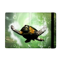 Beautiful Seaturtle With Bubbles iPad Mini 2 Flip Cases