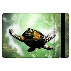 Beautiful Seaturtle With Bubbles iPad Air Flip