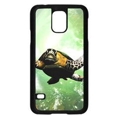 Beautiful Seaturtle With Bubbles Samsung Galaxy S5 Case (Black)