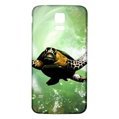 Beautiful Seaturtle With Bubbles Samsung Galaxy S5 Back Case (White)