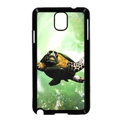 Beautiful Seaturtle With Bubbles Samsung Galaxy Note 3 Neo Hardshell Case (Black)