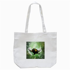 Beautiful Seaturtle With Bubbles Tote Bag (White)