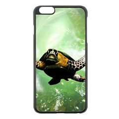 Beautiful Seaturtle With Bubbles Apple iPhone 6 Plus/6S Plus Black Enamel Case