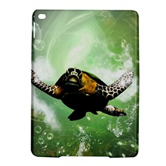 Beautiful Seaturtle With Bubbles iPad Air 2 Hardshell Cases