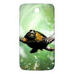 Beautiful Seaturtle With Bubbles Samsung Galaxy Mega I9200 Hardshell Back Case