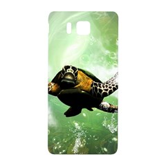 Beautiful Seaturtle With Bubbles Samsung Galaxy Alpha Hardshell Back Case