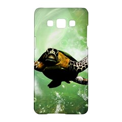 Beautiful Seaturtle With Bubbles Samsung Galaxy A5 Hardshell Case