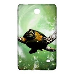 Beautiful Seaturtle With Bubbles Samsung Galaxy Tab 4 (7 ) Hardshell Case
