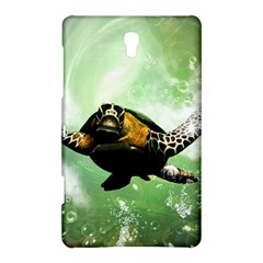 Beautiful Seaturtle With Bubbles Samsung Galaxy Tab S (8.4 ) Hardshell Case