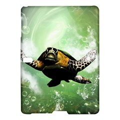 Beautiful Seaturtle With Bubbles Samsung Galaxy Tab S (10.5 ) Hardshell Case