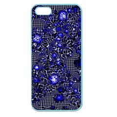 Sci Fi Fantasy Cosmos Blue Apple Seamless Iphone 5 Case (color) by ImpressiveMoments