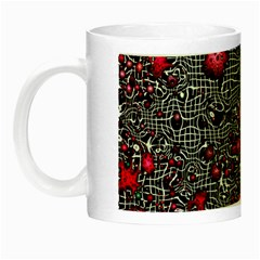 Sci Fi Fantasy Cosmos Red  Night Luminous Mugs by ImpressiveMoments