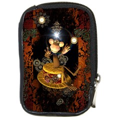 Steampunk, Funny Monkey With Clocks And Gears Compact Camera Cases by FantasyWorld7