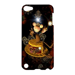 Steampunk, Funny Monkey With Clocks And Gears Apple Ipod Touch 5 Hardshell Case by FantasyWorld7