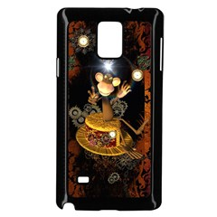 Steampunk, Funny Monkey With Clocks And Gears Samsung Galaxy Note 4 Case (black) by FantasyWorld7