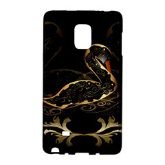 Wonderful Swan In Gold And Black With Floral Elements Galaxy Note Edge by FantasyWorld7