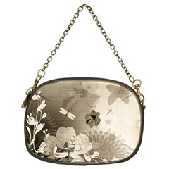 Vintage, Wonderful Flowers With Dragonflies Chain Purses (one Side)  by FantasyWorld7