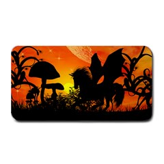 Beautiful Unicorn Silhouette In The Sunset Medium Bar Mats by FantasyWorld7