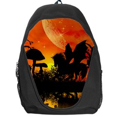 Beautiful Unicorn Silhouette In The Sunset Backpack Bag by FantasyWorld7