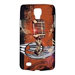 Microphone With Piano And Floral Elements Galaxy S4 Active by FantasyWorld7