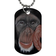 The Thinker Dog Tag (one Side) by timelessartoncanvas
