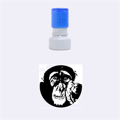 The Thinker Rubber Round Stamps (small) by timelessartoncanvas